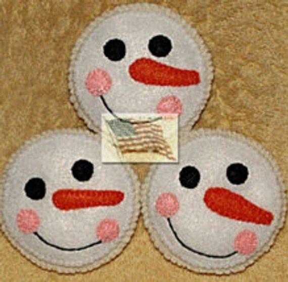 Photo of Felt Snowman Faces Play Cookies – Set de 3 – # 146 F – Relleno de tazón – Ornies Hanging Ornament SIN REEMBOLSO