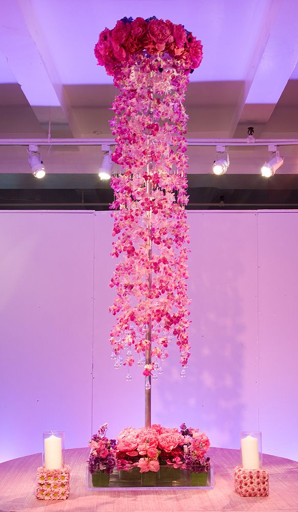 Preston Bailey Event Ideas Tall Pink Orchid Centerpiece Orquideas
