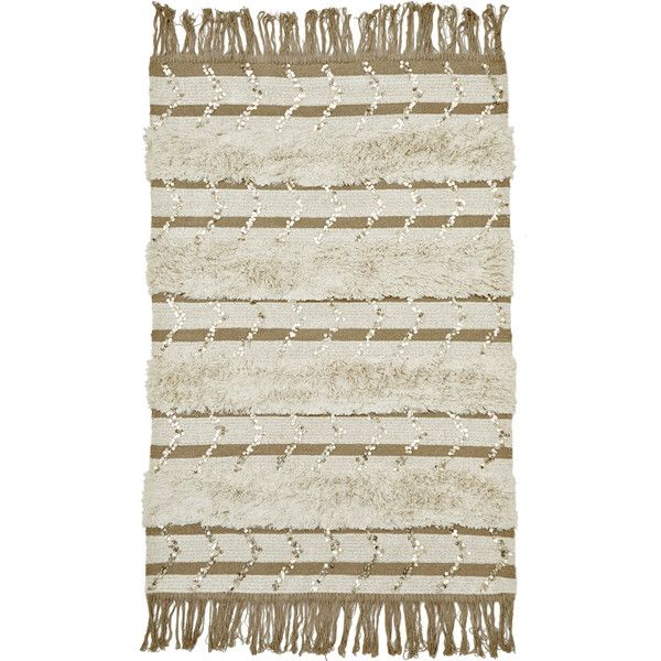 Calypso St. Barth Home Moroccan Wedding Tapis 4x6 ($395) ❤ Liked On Polyvore