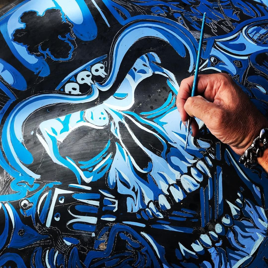 Davidcooklosangeles dcla close up hand painting chevy