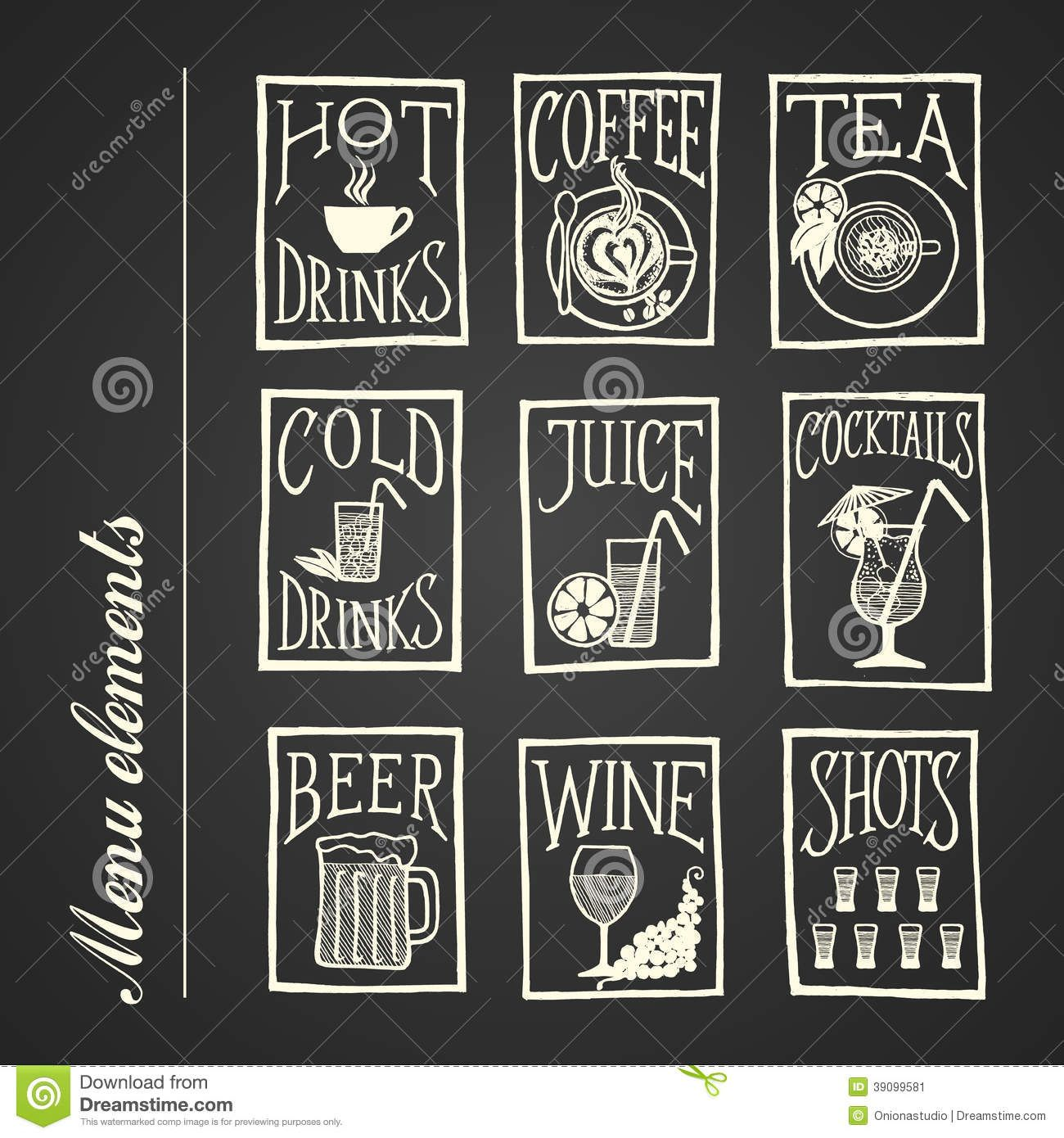Chalkboard Menu Icons Drinks Download From Over 53