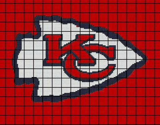 $5 Kansas City Chiefs Crochet Afghan Blanket Pattern