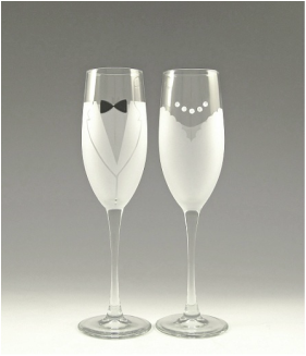 Ideas for the  newlyweds glass