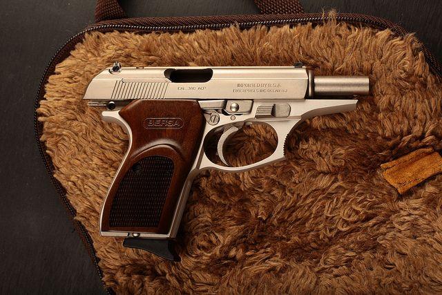Satin Nickel Bersa Thunder  380 Handgun   Top Concealed