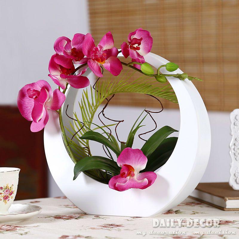 Eine Reihe von pu knstliche orchidee phalaenopsis blumen arrangementsorchidee anzug ikebana