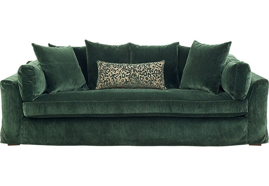Raven Lane Green Sofa Sofas Green I Want This In Navy Or