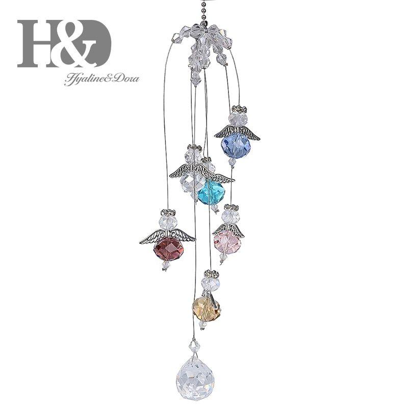 Crystal Prisms Suncatcher Pendant Hanging Healing Ornament Xmas Decor Gift
