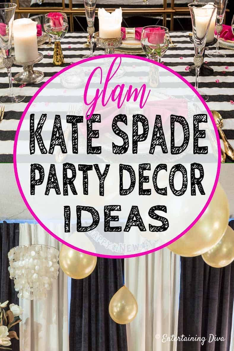 Kate Spade Themed Party Decor Ideas Black And White Party