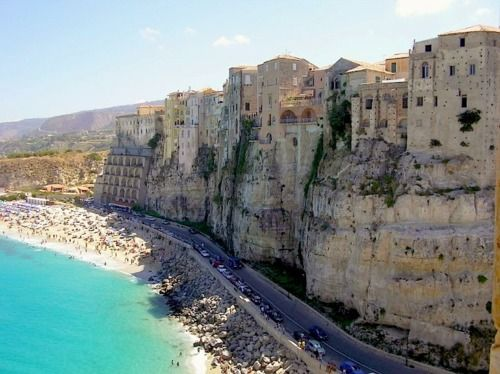 Cliffside Beach Tropea Italy Breathtaking Places Places To See