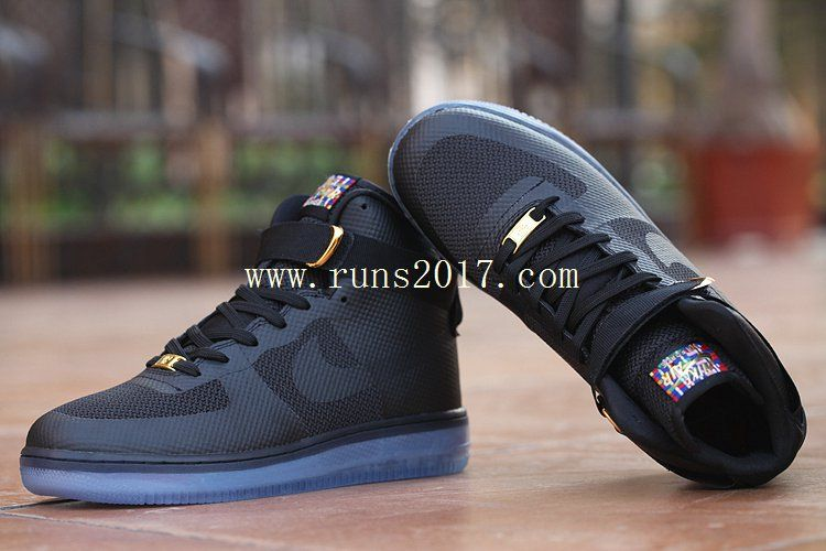 100% authentic 60b00 c7dac Nike Air Force 1 High Women Men Black Crystal Sole