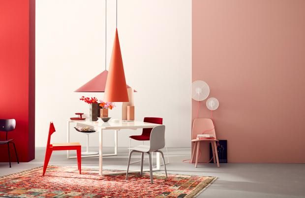 Warm Und Feminin Rosa Und Rottone Wirken Unwiderstehlich Und Modern Bild 13 Wandgestaltung Haus Deko Und Schoner Wohnen Farbe