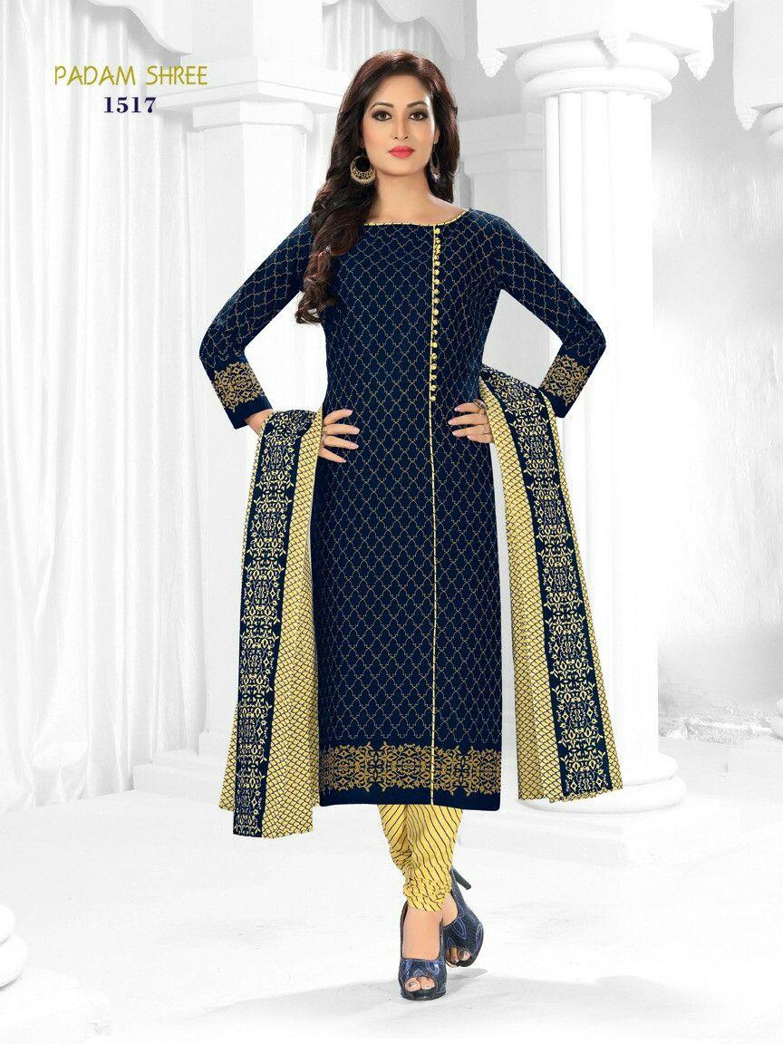 2c9e385b8d Padamshree suits Parisaa vol.2 100% cotton churidar material ...