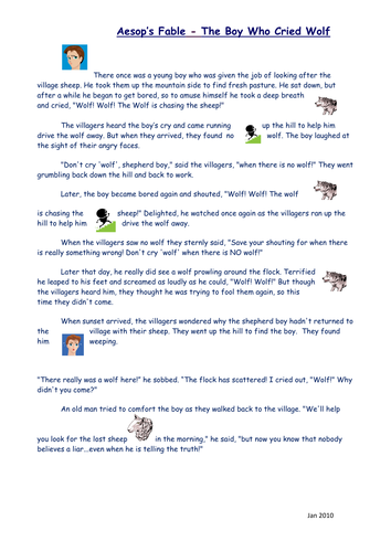 Aesop's Fables - The Boy Who Cried Wolf   divyam stories