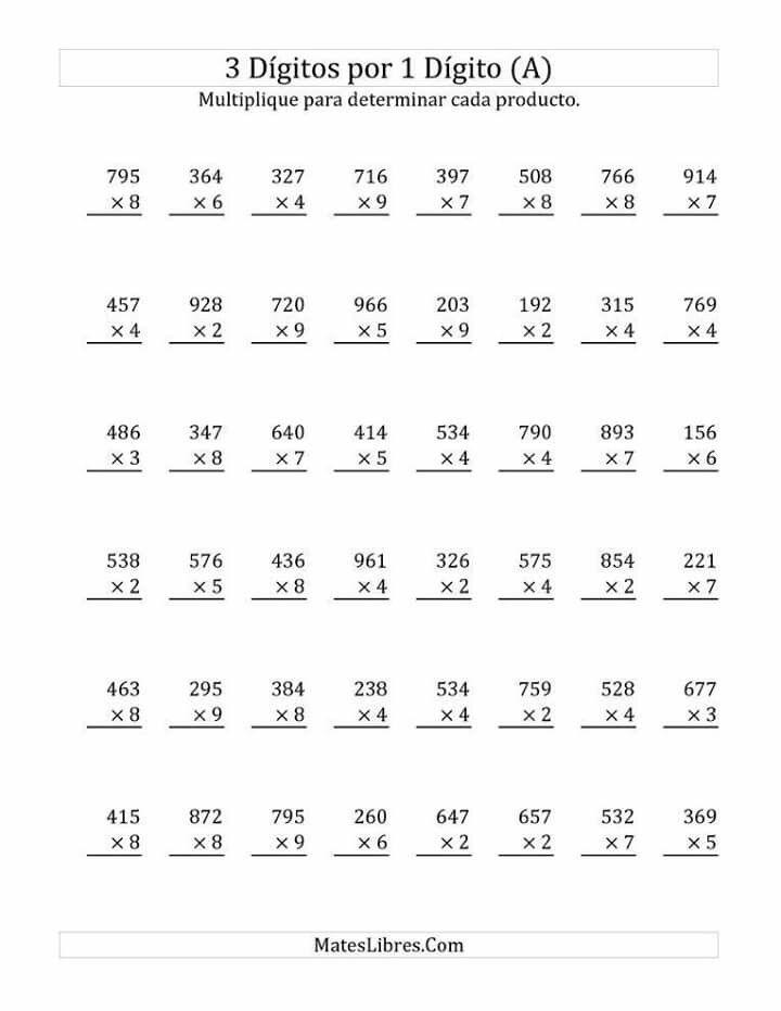 Pin de gudima maria en îmulţirea numerelor | Pinterest | El profe ...
