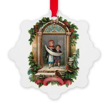 Vintage Children Christmas Ornament