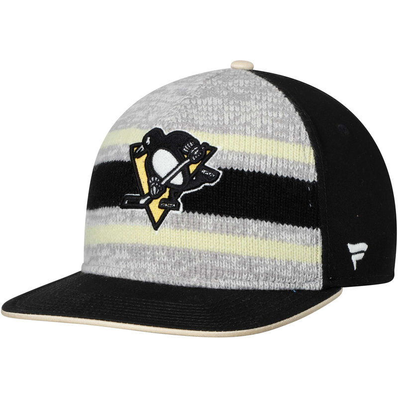 promo code e066c 52e6c Pittsburgh Penguins Fanatics Branded True Classic Dispatch Adjustable Hat –  Black