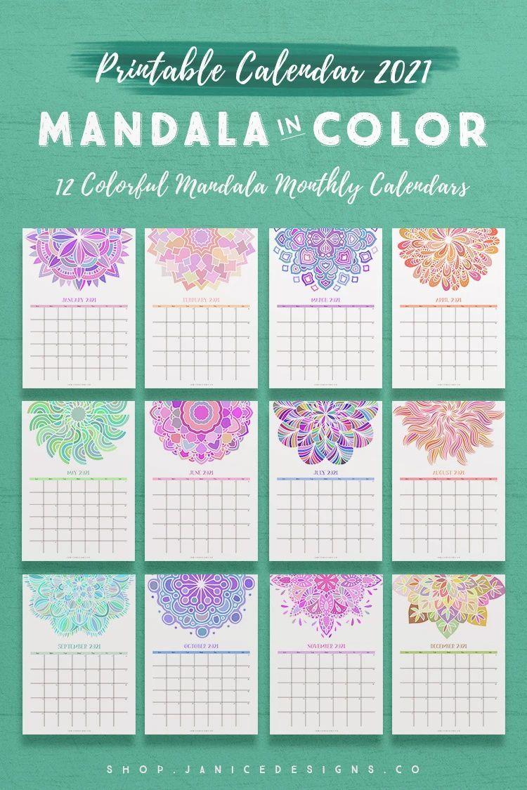 NEW 2021 Calendar: Mandala in Color* in 2020 | 2021 ...
