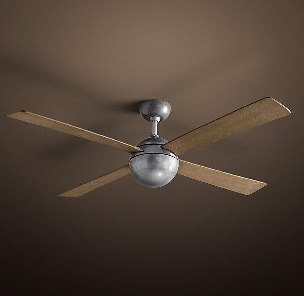 Concept Drop Down Ceiling Fan - Distressed Aluminum http://www ...:Hemisphere Ceiling Fan 52