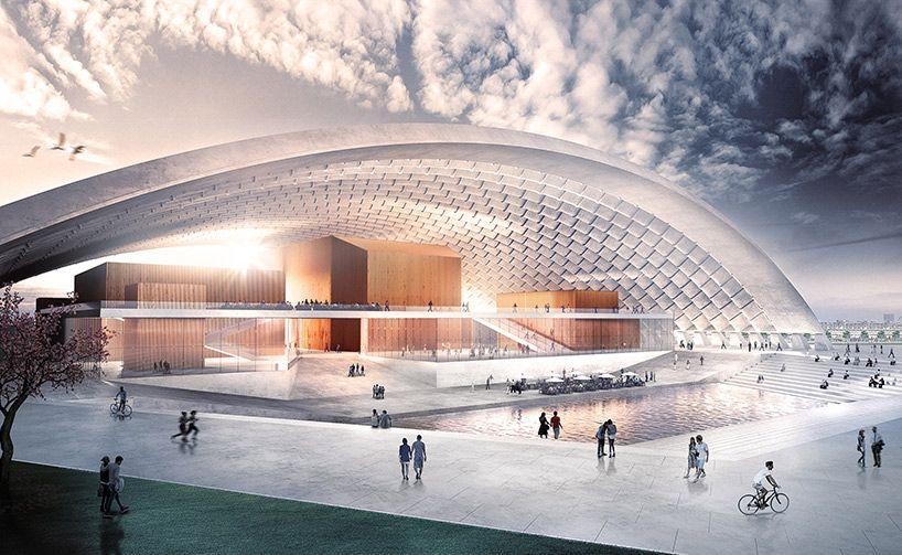 Die Resonanz Concert Hall Concept Transforms Parcel Post Hall In Munich Architecture Concert Hall Architecture Design