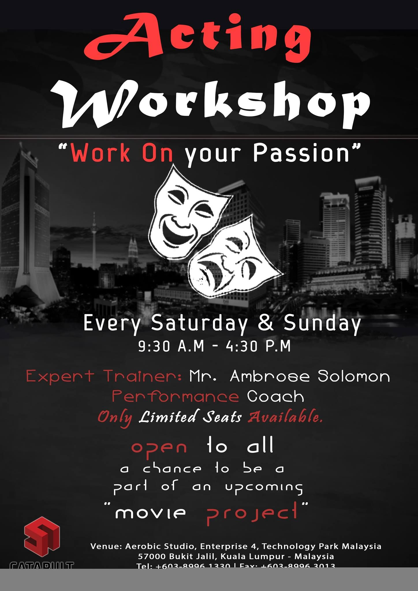acting workshops flyers pinterest