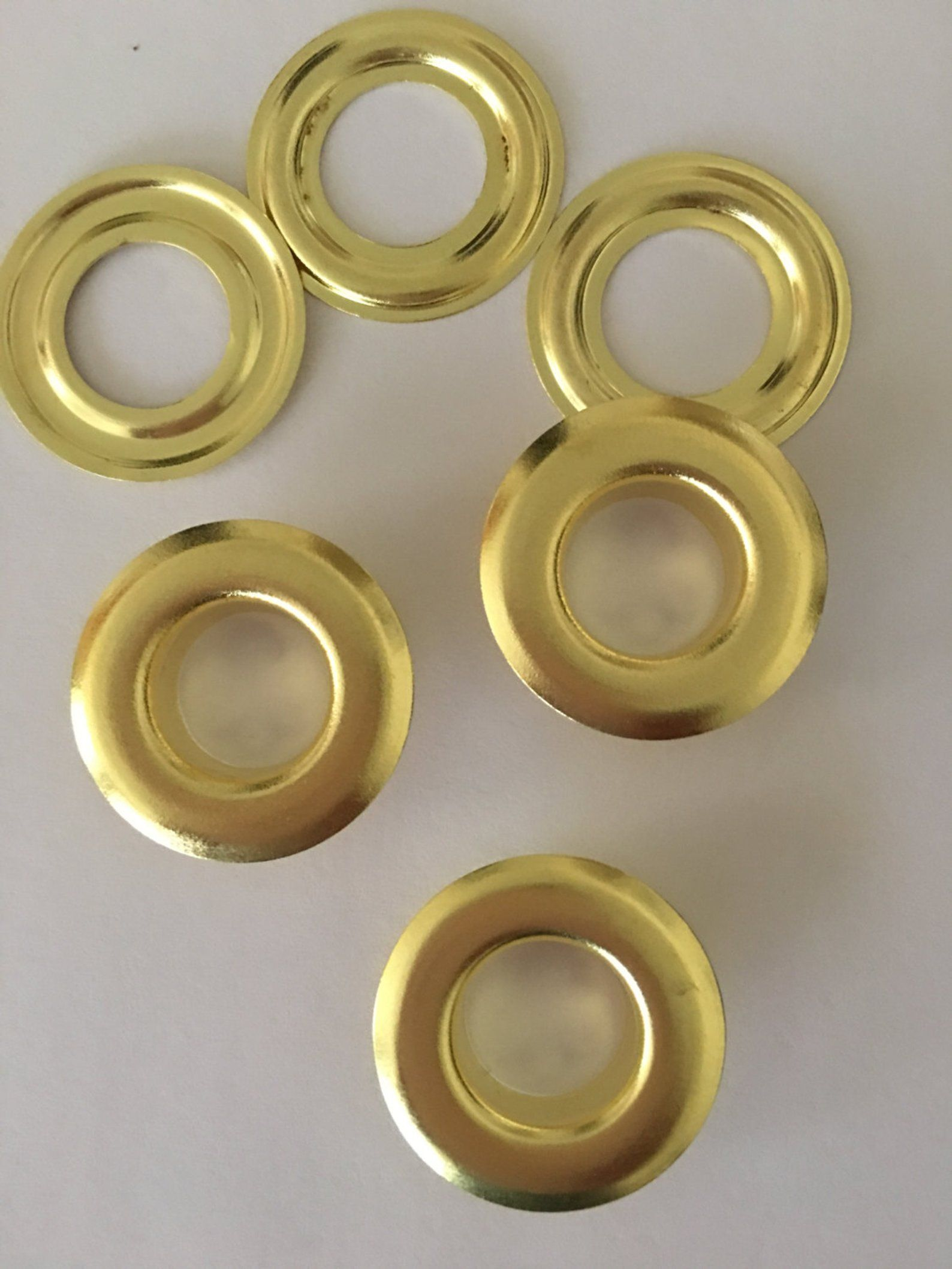 100 4 1 2 Solid Brass Self Piercing Grommets Etsy Solid Brass Grommets Etsy