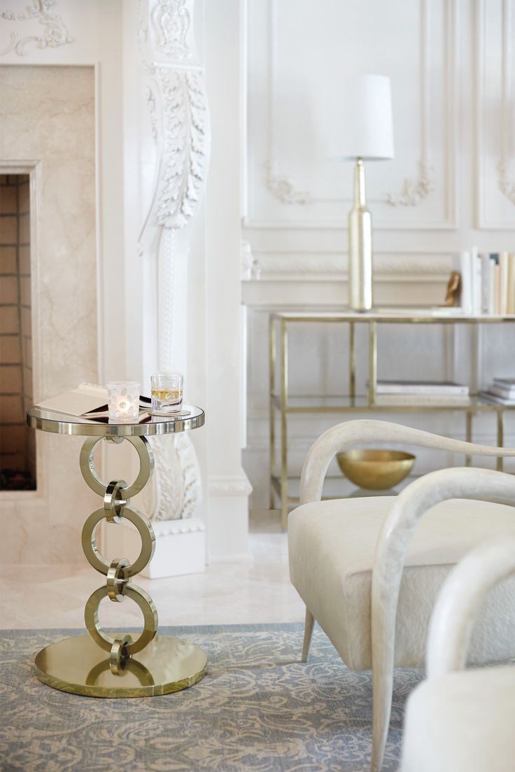 Bernhardt | Jet Set Round Chairside Table, a perfect small pull-up ...