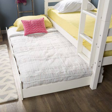 Manor Park Solid Wood Twin Trundle Bed Frame With Wheels
