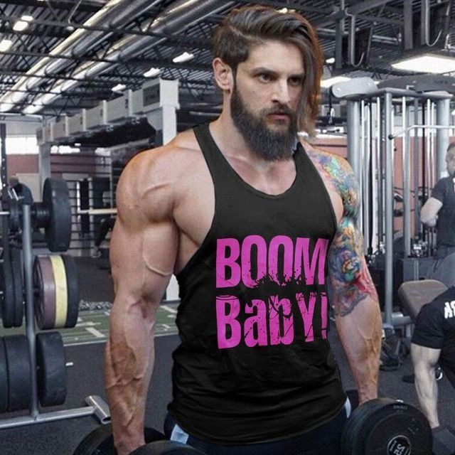 Bodybuilding Men S Boom Baby Tops Coloured Fitness Gyms Clothing Tank Tops Undershirts Cotton Sleeveless Ve Baby Tank Tops Bodybuilders Men Undershirt Tank Top