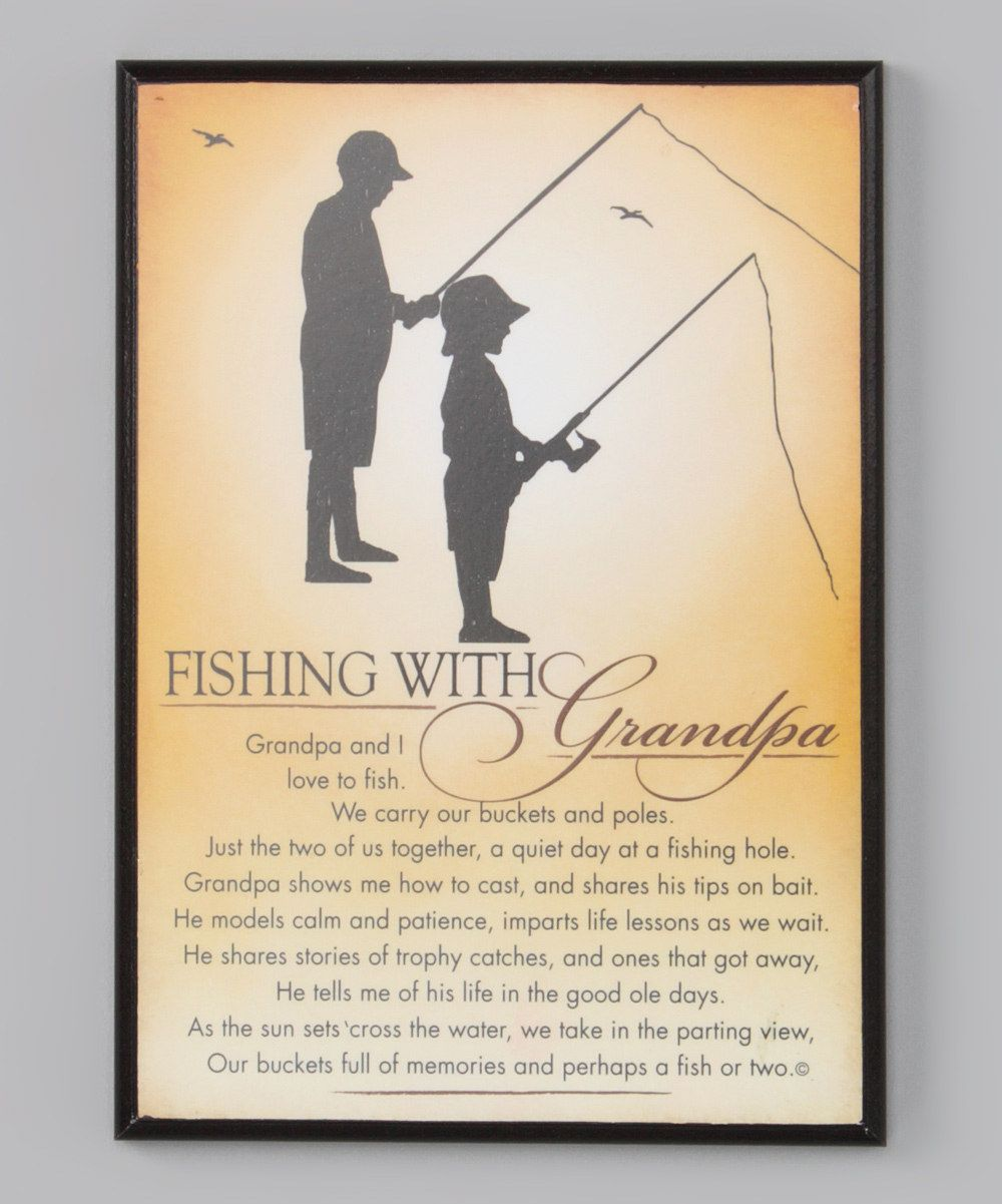 Love Fishing Quotes Black 'fishing With Grandpa' Frame  Cool Stuff For Niece And