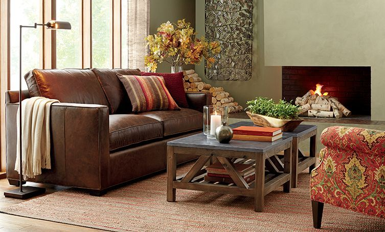 Davis Leather Sofa From Crate And Barrell Well Reviewed More Reasonably Priced Available With Love Seat As