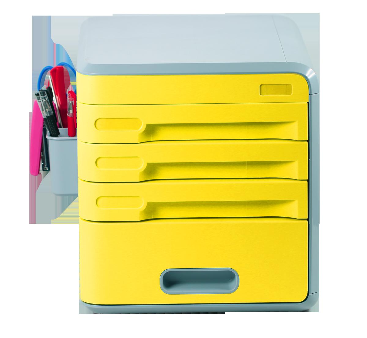 Coded Lock Desk Storage Drawers, EVERTOP Desktop Organizer 4 ...