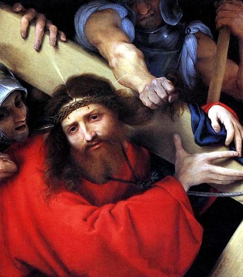 ЛОТТО,Несение креста (В оригин. издании размеры и материал картины не указаны.)Приобретена в 1981/82гг.