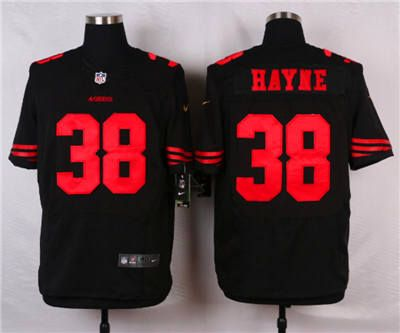 6fdf09814 Nike San Francisco 49ers  38 Jarryd Hayne Black Alternate Elite Jersey