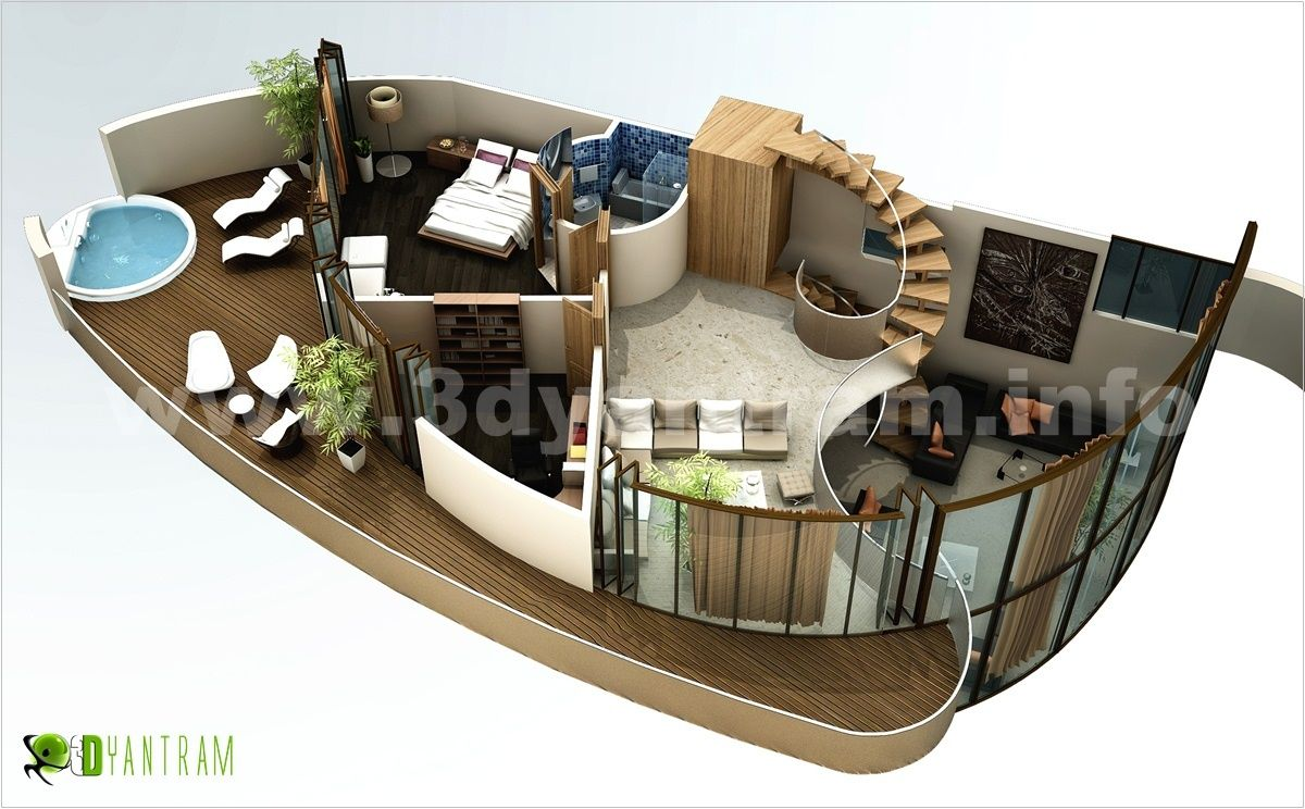 3D home modern #Floor #Plan #design studio Beijing, Asia | 3D ...