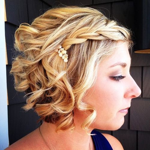 40 Sparkly Christmas And New Year Eve Hairstyles Prom Hairstyles For Short Hair Short Hair Updo Formal Hairstyles For Short Hair
