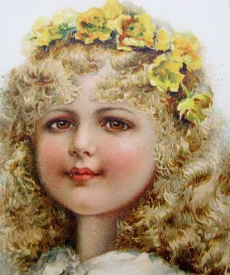 Victorian girl postcard by Ernest Nister, ca. late 1800s