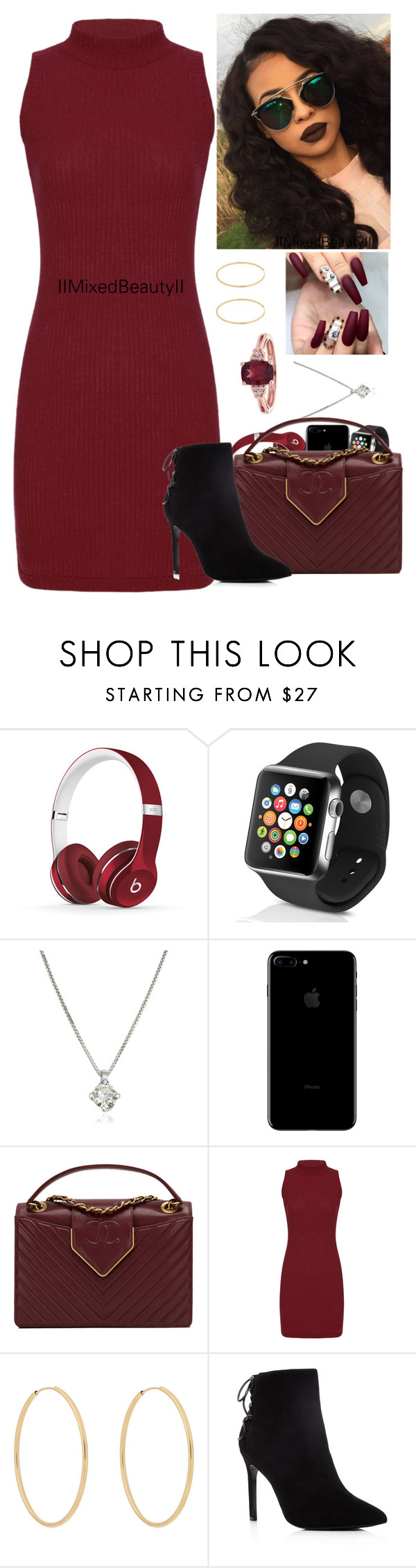 """""""Untitled #336"""" by iimixedbeautyii ❤ liked on Polyvore featuring Beats by Dr. Dre, Apple, Forzieri, Chanel, Loren Stewart and Charles David"""