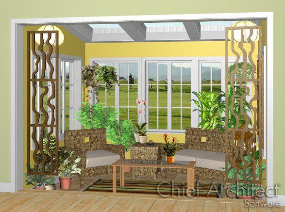 How To Create A Sun Room Chief Architect Knowledge Base Porch Design Chief Architect Sunroom