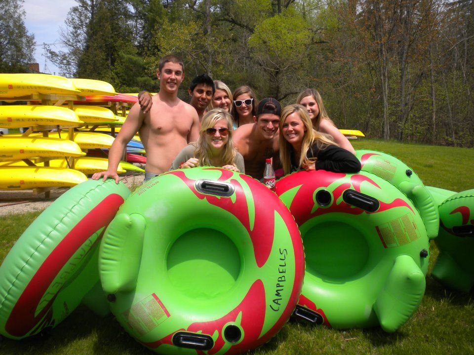 Tubing on the South Branch of the AuSable River at