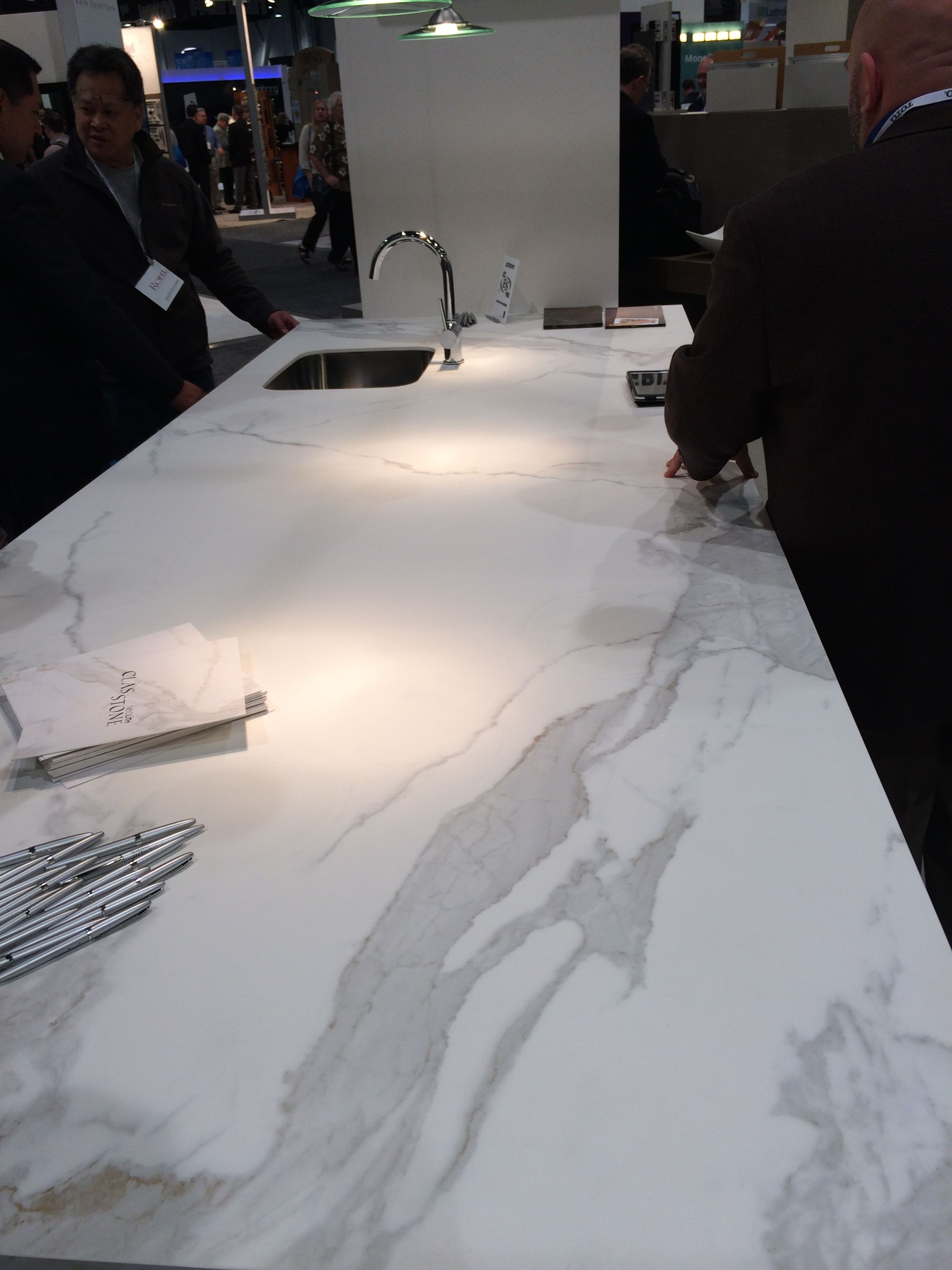 Kitchen Backsplash Las Vegas estatuario neolith at a kbis 2014 las vegas trade show | trade
