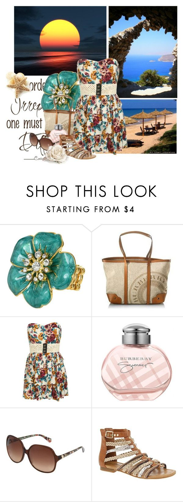 """""""Sunset On the Ocean"""" by cdolphina2 ❤ liked on Polyvore featuring Chanel, Wet Seal, Burberry, Diane Von Furstenberg, Call it SPRING and Monsoon"""
