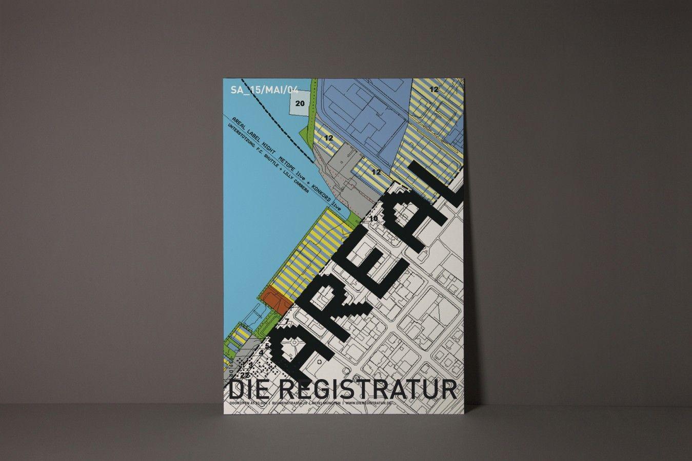 Werbeplakat: Areal Label Night (Veranstaltungsort: Die Registratur ...