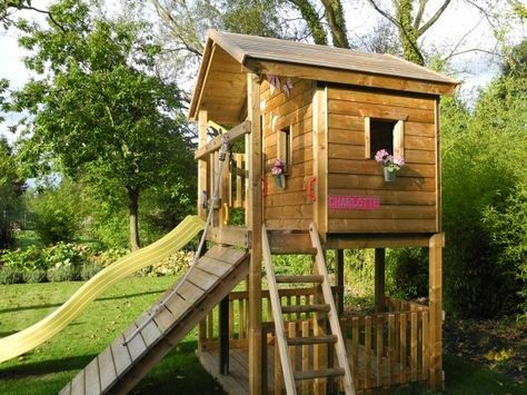 spielhaus kinderspiele garten rutsche fenster blumen kletterwand spielplatz ideen pinterest. Black Bedroom Furniture Sets. Home Design Ideas