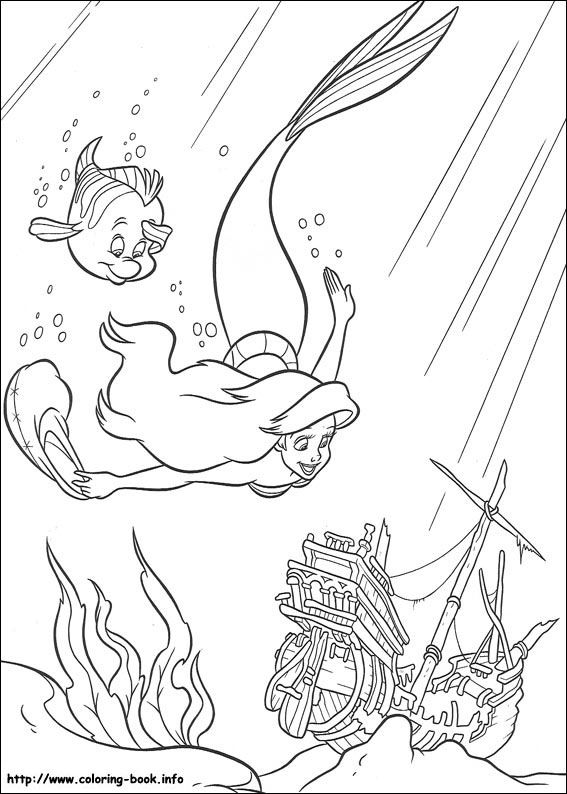 The Little Mermaid Coloring Picture Mermaid Coloring Pages Disney Princess Coloring Pages Disney Coloring Pages
