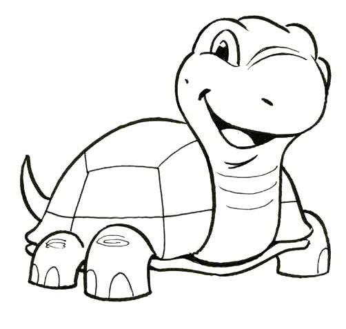 cute little turtle coloring pages kids coloring pages