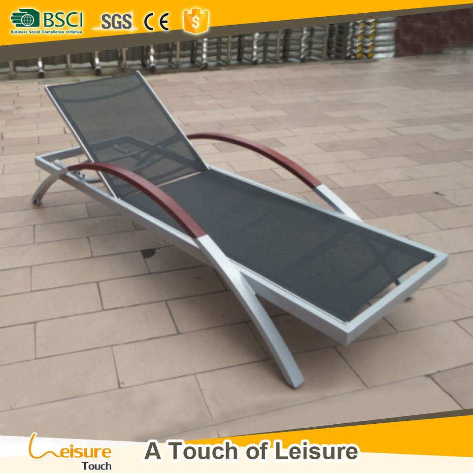 Sydney Aluminum Brushed Sun Lounger Chair Furniture Arm Sling