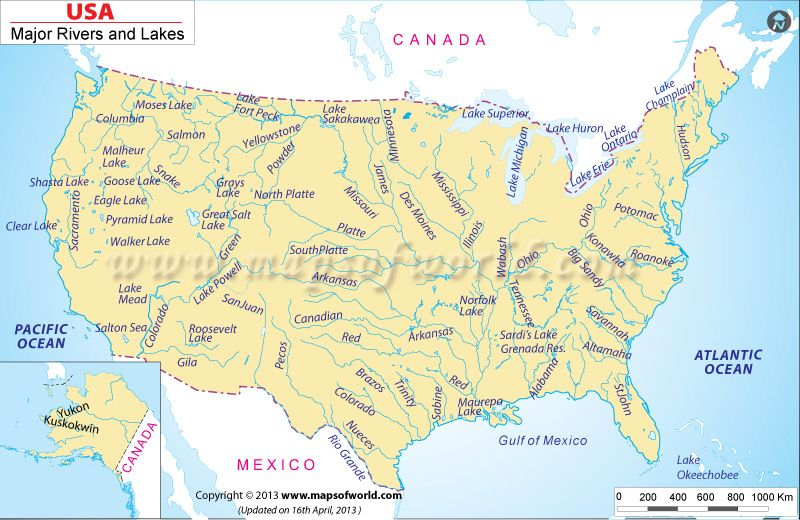USA River Map Classical Education Pinterest Rivers - Map of usa with oceans