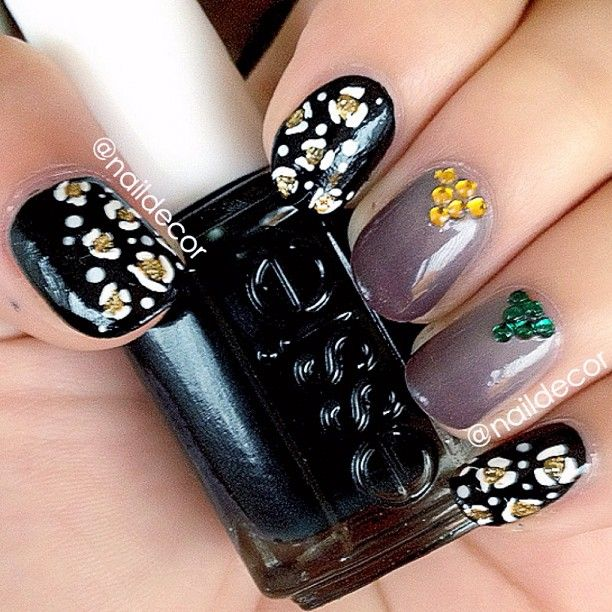 Safari Nails using Fall Colours  Colours Used: Essie- Stylenomics, Miss Fancy Pants, and Color Club-Earth Angel  - @naildecor