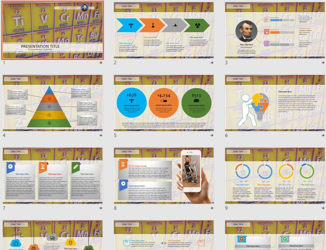 Periodic Table Powerpoint By Sagefox Free Powerpoint Templates By
