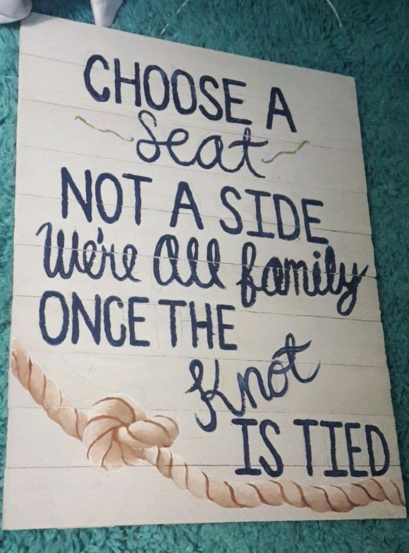 Wedding sign. Tie the knot Wedding signs, Tie the knots